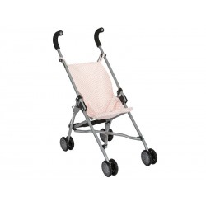 Dukkeklapvogn i rosa Barrutoys-20