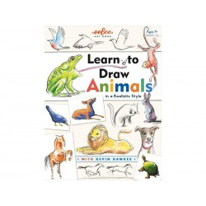Eeboo Tegnehæfte med dyr, lær at tegne med Kevin Hawkes Fra 7 år*-20