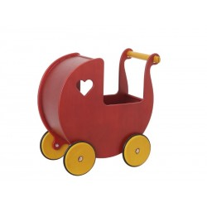 Dukkevogn i træ, Rød Moover-20