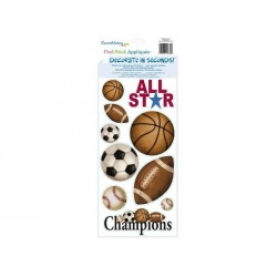 RoomMates Wallstickers boldspil, All Star Balls mini-20