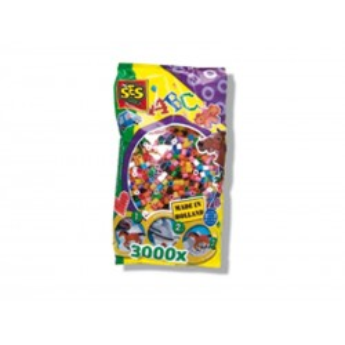 SES Perler 3000 PVC-fri perler, basis farver-20