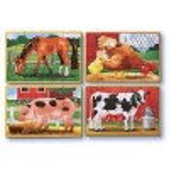 4 i 1 træspuslespil med bondegårdsdyr fra Melissa and Doug-01