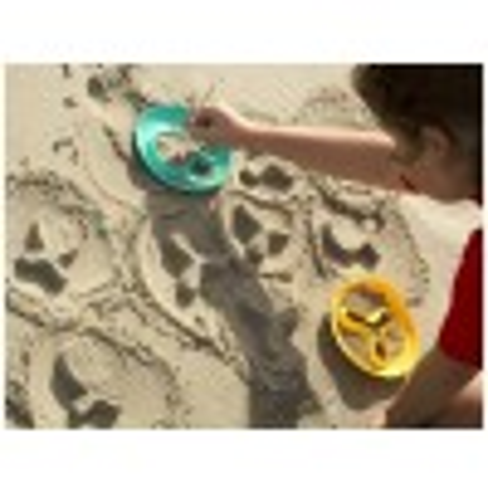 Sandlegetøj, StarFish sandfirgur forme fra Quut-01