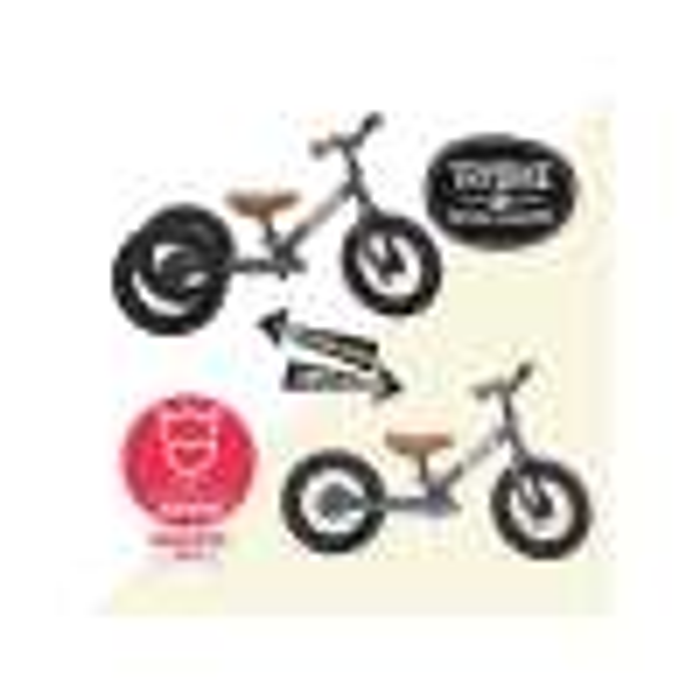 Trybike Løbecykel 2-hjulet i Retrolook, Antracitgrå-01