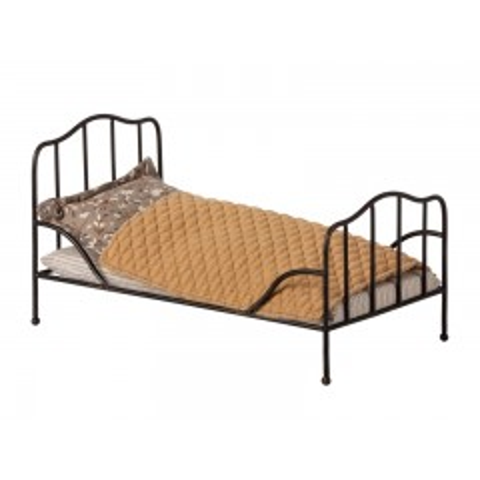 Maileg, Vintage seng, Mini - Antracit