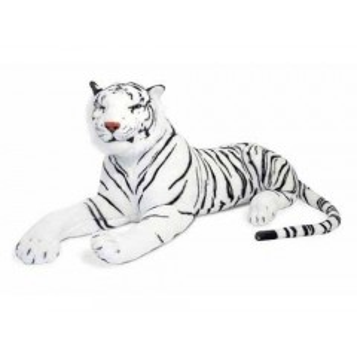 Melissa & Doug - Kæmpe hvid Tiger bamse 170 cm lang*