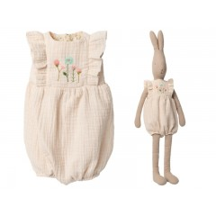 Maileg Jumpsuit Off white til Bunny size 5