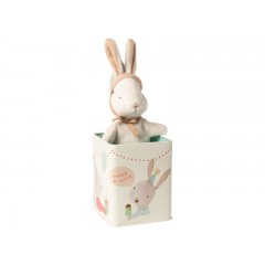 Maileg Happy Day Bunny small i metal dåse