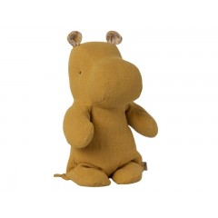 Maileg Safari Friends Hippo Small - Dusty yellow