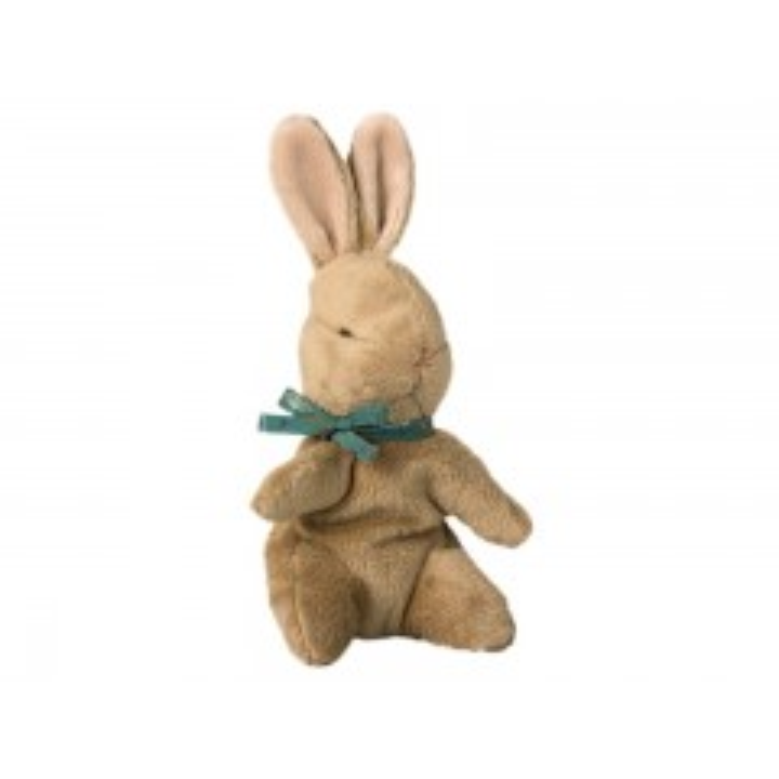 Maileg Baby Bunny med blå sløjfe