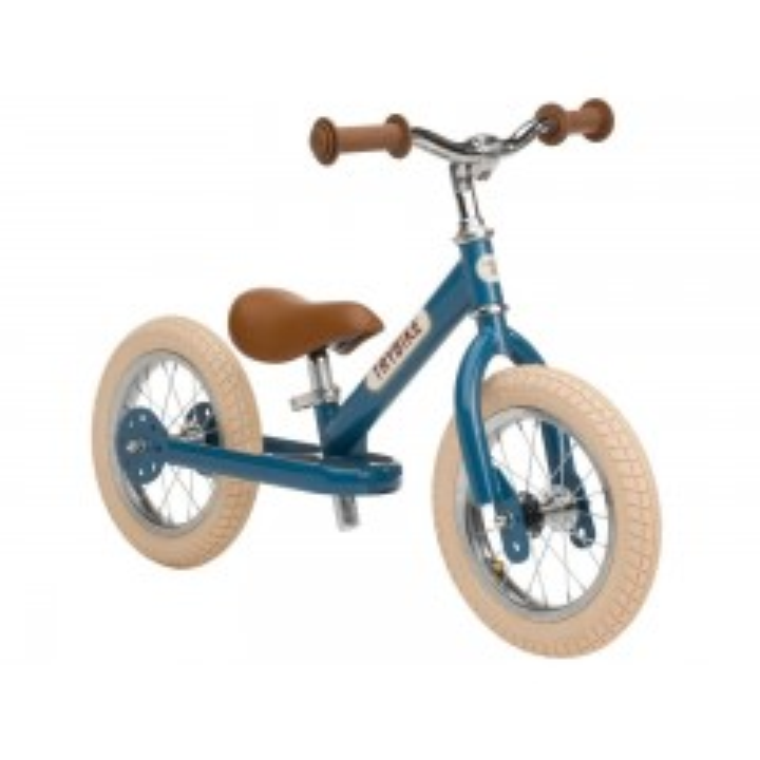Trybike Løbecykel 2 hjulet - Vintage Blå