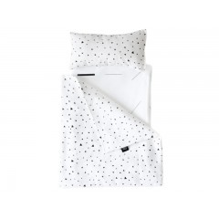 Ooh Noo Dukkesengetøj til dukkevogn - Hvid med trekanter