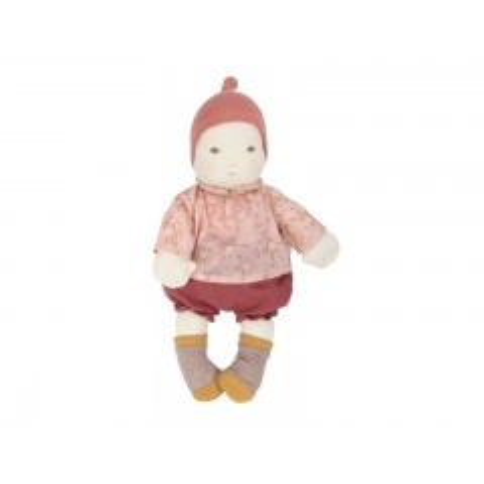 Moulin Roty Babydukke i stof - Pige