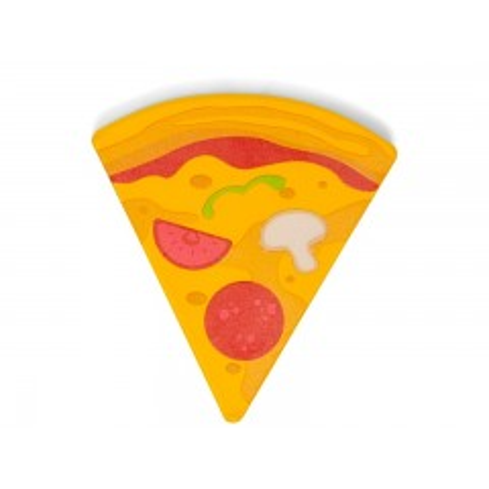 MaMaMeMo Pizza slice - Legemad i træ
